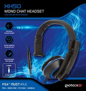 Gioteck XH50 Blue Wired Mono Headset